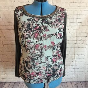 Maurice's Flowered long sleeved top